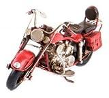 AVENUELAFAYETTE Réplique Moto ancienne en métal - 19 cm (Rouge)...