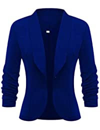 8c27f9f1e015 Damen Business Blazer Tailliert Kleine Anzug Slim Büro Jacke Langarm Casual  Sweatblazer Kurzblazer Mantel Jacke Outwear