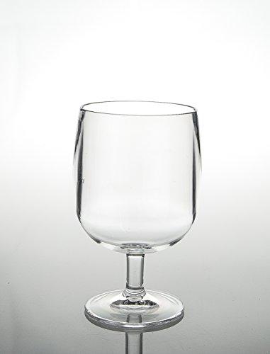 Acryl Weinglas, goblet- 1pc 8 (DIA) x 13.5 (H) CM farblos (Acryl-gläser Unzen 8)