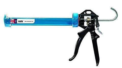 Cox AE6013 Professional cradle frame sealant applicator Powerflow for 310ml/400ml cartridges, steel frame, mechanical advantage 12:1 by Cox