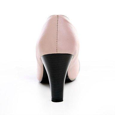 Talons pour femmes Printemps Eté Automne Hiver Autres similicuir Bureau et carrière Robe de soirée et soirée Chunky Heel Bowknot Noir Rose Beige Pink