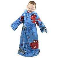 Cars 2 - Batamanta polar con mangas Diseño City Web para niños (90cm x 120cm/Azul/Rojo)