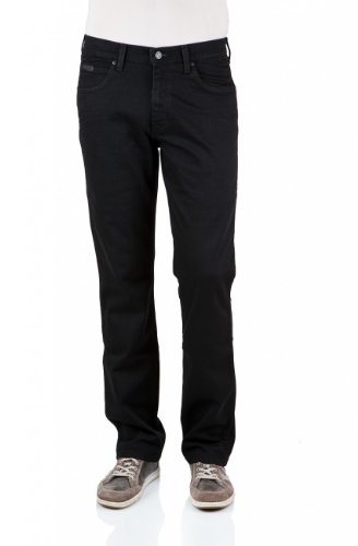 Wrangler Herren Jeans Arizona Stretch Worn Broke Schwarz (Rinsewash 023 Neu)