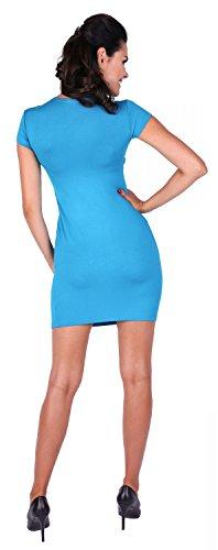 Zeta Ville - Maternité robe d'allaiter grossesse poches - couches - femme - 963c Cyan