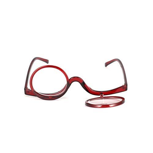 Inlefen Lesebrille Makeup-Brille Mode Mehrzweck Umdrehen Cover Damen Lesen Brille +1.0 bis +3.5