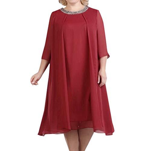 Women's Butterfly Print Sleeveless Dress Vintage Swing Lace Dress Butterfly Scarf Scarves Costume Blouse Skirt Große Größe Ärmelloser Chiffon mit Rundhalsausschnitt/Red1,2XL - Butterfly Print Scarf