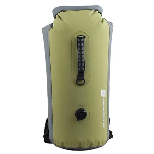 Jiji886 borsa impermeabile da nuoto gonfiabile alla deriva 25l leggera luce pieghevole e facile da trasportare borsa impermeabile a doppia spalla in mesh 500d (verde)