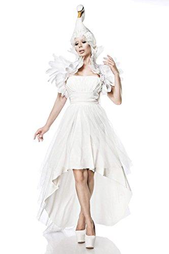Generique - Mystisches Schwanen-Kostüm für Damen Fasching Weiss XS