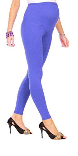futuro fashion Leggings de maternité pleine longueur cheville Leggings coton très à laise toutes les tailles Bleu Roi