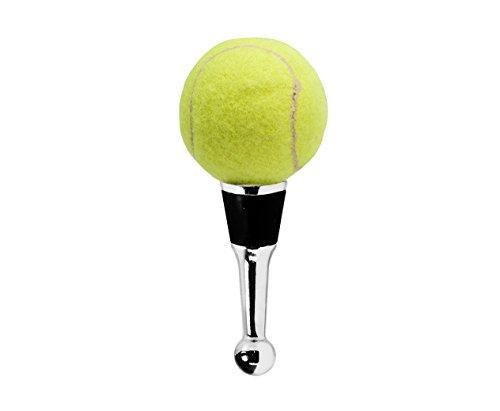EDZARD Flaschenverschluss in Tennis für Champagner, Wein und Sekt, 11 cm hoch, Handarbeit