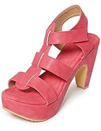 Meriggiare Women Synthetic Red Heels