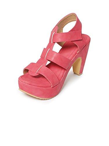 Meriggiare Women Synthetic Red Heels 36 Eu