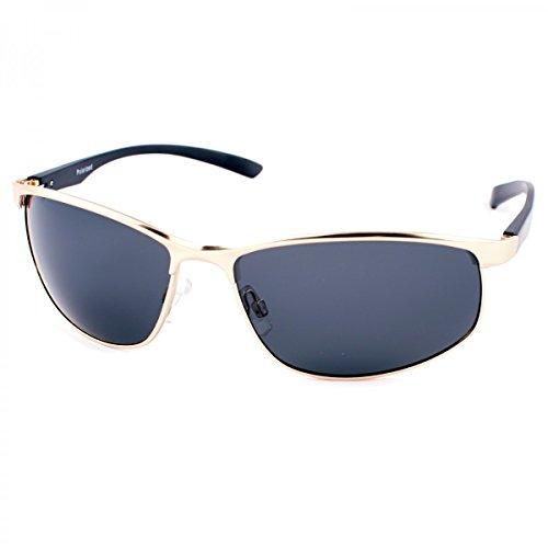 BEZLIT Herren Alu Sonnenbrille Polarisierend Piloten Fram Gold