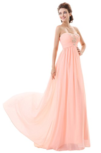 Promgirl House - Robe - Trapèze - Femme Orangerosa