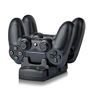 3 Controller Ladegerät PS3 / PS3 Move / PS4 Dock mit USB Kabel, 2 Port Ladestation DualDock Ladestation 3 in 1 ()