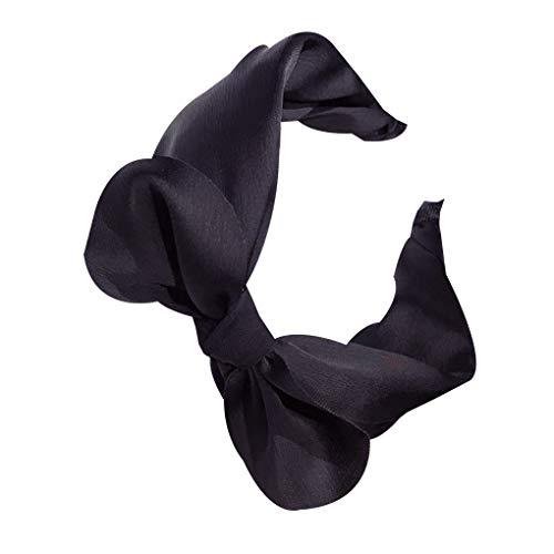 Dpolrs Frauen-Damen-Reine Farbe Öffnungshairband Bogen-Knoten-Stirnband Headwrap Haarband Mädchen Kopfbedeckung -