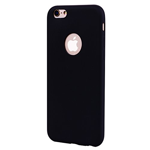 iPhone 6 Plus/6S Plus Coque, Voguecase TPU avec Absorption de Choc, Etui Silicone Souple Transparent, Légère / Ajustement Parfait Coque Shell Housse Cover pour Apple iPhone 6 Plus/6S Plus 5.5 (Noir)+  Noir
