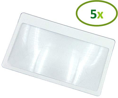 Thorani Taschenlupe im Kreditkartenformat I Kartenlupe I Lupe mit 3-facher Vergrößerung, ultra...
