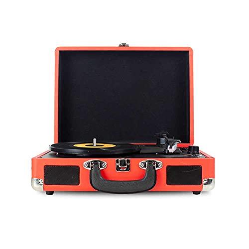 Oferta de PRIXTON VC400 - Tocadiscos de Vinilo Vintage, Reproductor de Vinilo y Reproductor de Musica Mediante Bluetooth y USB, 2 Altavoces Incorporados, Diseño de Maleta, Color Rojo