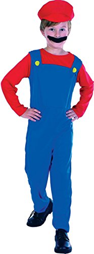 Low Cost Plumbers Mate Kids Fancy Dress Costume. Sizes 6-8 and 10-12