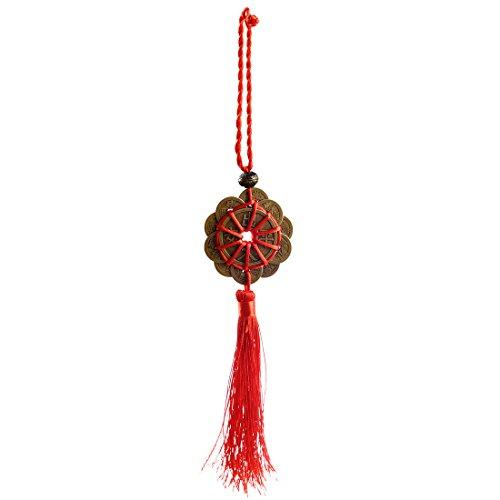 TOOGOO FENG SHUI Conjunto de 1 Amuleto de la suerte antiguo I CHING monedas Proteccion de la prosperidad