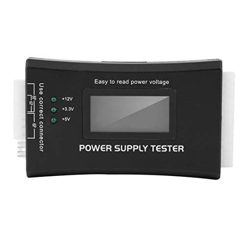 vbncvbfghfgh Netzteiltester für LCD-Display-Computer Netzteil-Diagnosetester PC-Netzteil/ATX/BTX/ITX-konform Schwarz
