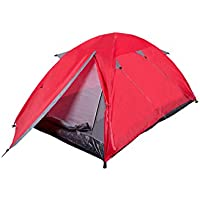 Mountain Warehouse Festival Dome 2 Man Camping Tent - Porch Area, Groundsheet, Water Resistant Backpacking Tent, Lightweight, Easy Pitch Sleeping Tent - For Summer Travelling