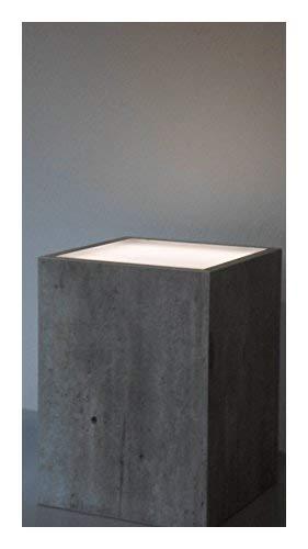 Hermesmöbel Tabouret de Fleur Tabouret avec éclairage Fleur Table Basse Effet Fluo Design béton Naturel L 30 x l 30 x H 40 cm