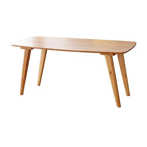 CJC Tables Table Basse, Étagère De Rangement Rectangulaire En Bambou Naturel Avec Support De Télévision Et Support De Télévision (Couleur : 100x50x40cm)
