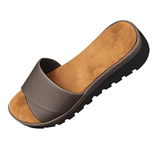 Kaister Damen mode Wedges Schuhe Offene Zehe Dicke Untere Römische Hausschuhe Strand Sandalen Riemchen sandalen Absatz 4.5CM