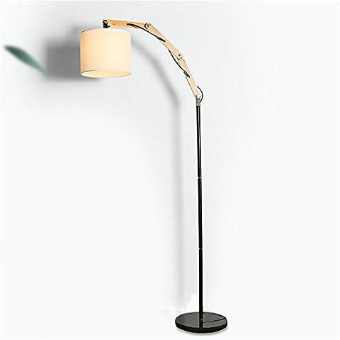 lámpara de pie lámpara creativa nórdica estadounidense mesita de noche dormitorio del estudio de madera rústico retro minimalista sala de estar ( Estilo : Lámparas de pie