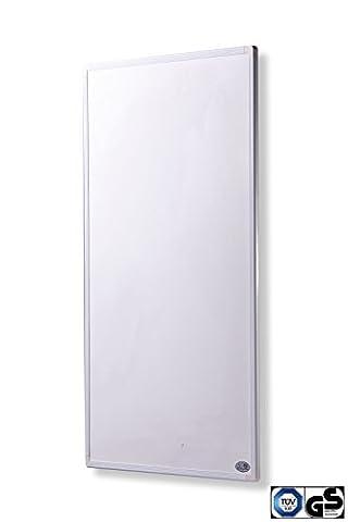 Infrarot Heizung 300 Watt mit Digital- Thermostat - schlichten weißen Rahmen - deutscher Hersteller und vom Tüv Süd GS geprüft -neueste Technologie - 30 Tage Zufriedenheitsgarantie - 5 Jahre Herstellergarantie- Elektroheizung mit Überhitzungsschutz -Überprüft durch deutsche Ingenieurgesellschaft- Fern Infrarotheizung Heizt bis