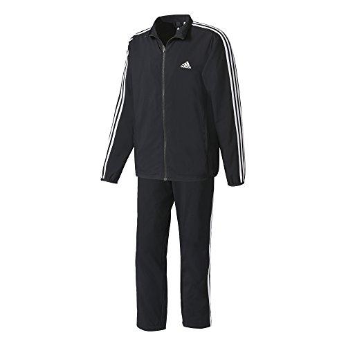 Adidas Herren Trainingsanzug TS WV Light, Schwarz (Schwarz / blanco), 50(Herstellergröße: 6 )