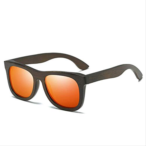 Trendy Fashion Bambus Sonnenbrille Wild Lady Holz Sonnenbrille Rot