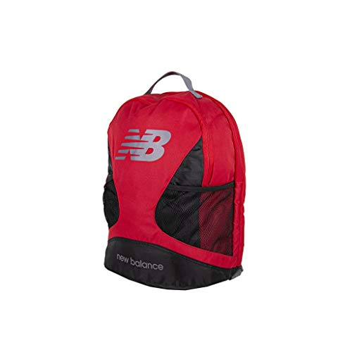 New Balance Players Backpack Dual Compartment Bag with Padded Laptop Sleeve, Gunmetal, One Size
