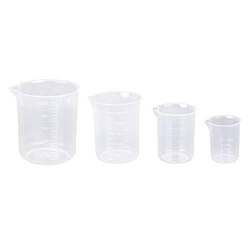 Acc 4 Vasos medidores de plástico sin Mango
