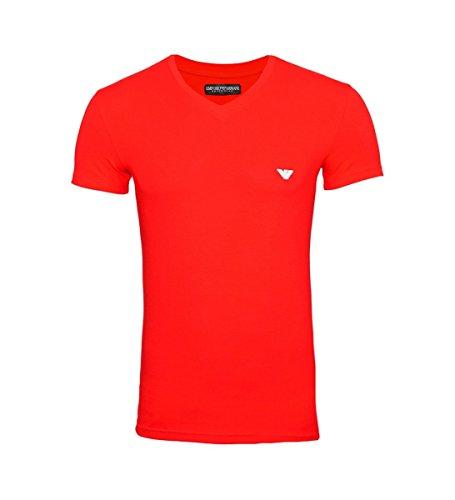 Emporio Armani T-Shirt V-Ausschnitt 110810 8P512 17574 Tango Red F18-EAT1 Größe XXL