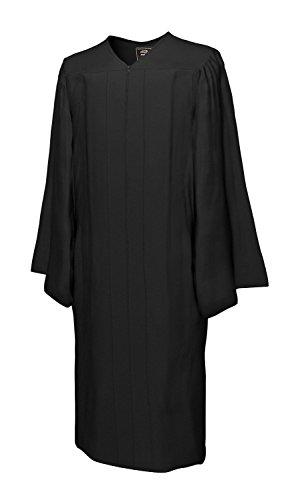 Robe schwarz Amtstracht Richter Anwalt Professor Jurist Talar Kostüm Karneval (100 % Polyester Go Green, 199-208)