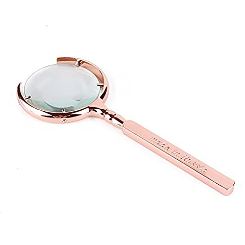 Hand-Held Praktische Doppel-Objektiv Lupe Alte Mann Lesen High-Grade High-Definition-Geschenk Lupe ( Color : Metallic )