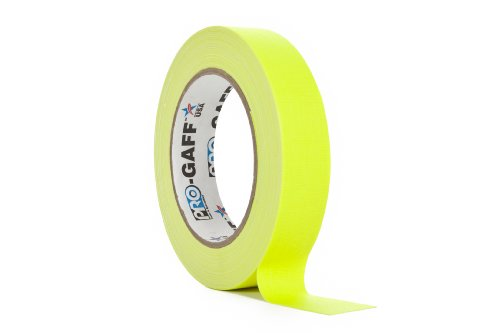 protapes-permacel-24mmx25-yard-fluorescent-gaffer-cloth-tape-yellow