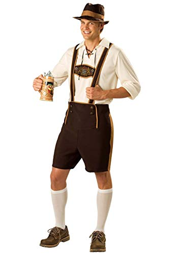 Baby Bier Kostüm - fagginakss Herren Fancy Drinker Outfit Halloween Oktoberfest Bier Lederhosen Uniform Cosplay Party Kostüm