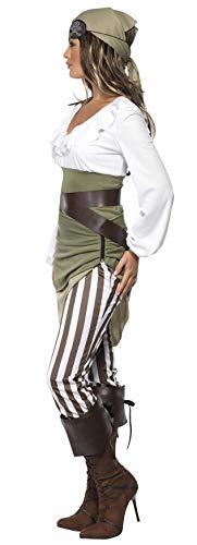 Matrosen-Zuckerpuppe Kostüm Oberteil Rock Leggings Kopftuch Gürtel und Überstiefel - 6