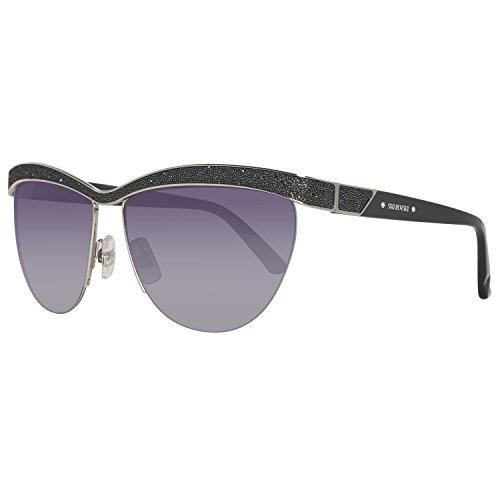 Swarovski Damen SK0076-6016B Sonnenbrille, Silber (Shiny Palladium), 60
