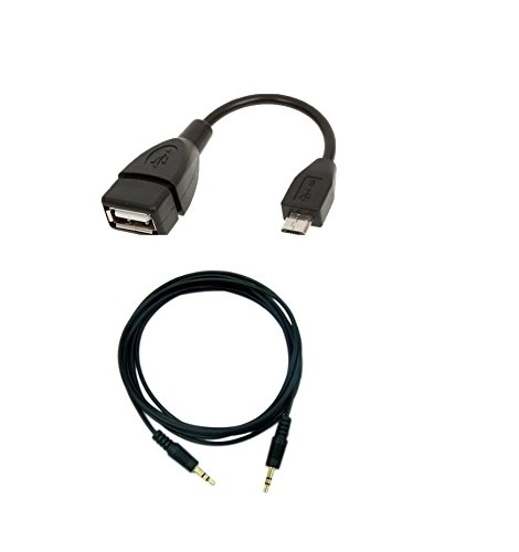 LipiWorld Combo Offer Micro USB OTG + 3.5mm to 3.5mm Universal AUX