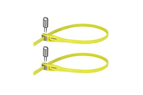 Hiplok Z-Lok Stahlkern Kabelbinder-Schloss 2er pack , gelb (lime), Einheitsgröße -