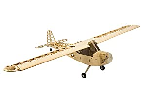 Jamara- 006148-Piper J3 1200 mm CNC Lasercut Kit Avion de Control Remoto, Color Madera (6148)