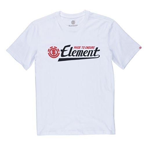 Element Herren Signature T-Shirt Optic White
