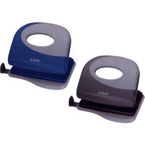 Herlitz 4 x Bürolocher 2.0mm mit Anschlagschiene Ergonomie Farbig Sortiert