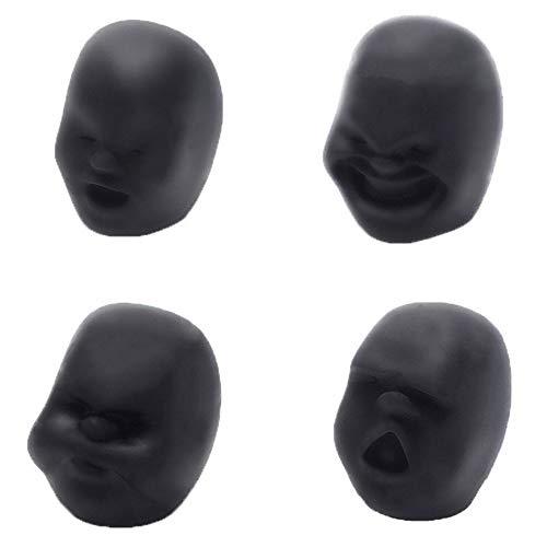 Anti-stress-gesicht (FEKETEUKI Neuheit Caomaru Antistress Ball Spielzeug Menschliches Gesicht Emotion Vent Ball Harz Entspannen Puppe Erwachsenen Stress Lindern Neuheit Spielzeug Geschenk-Schwarz-1 Größe)
