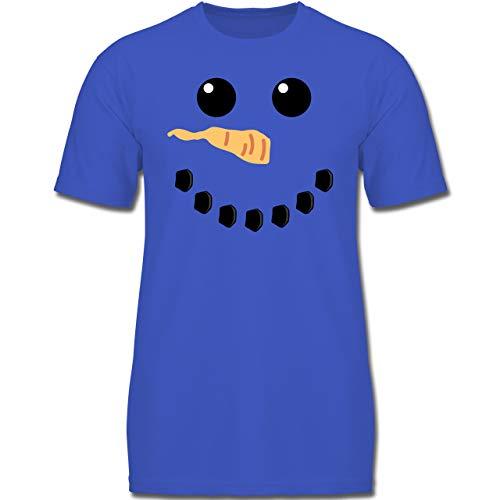 Karneval & Fasching Kinder - Schneemann Karneval Kostüm - 152 (12-13 Jahre) - Royalblau - F130K - Jungen Kinder T-Shirt